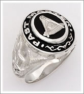 Past Masters Ring Sterling Silver & black face