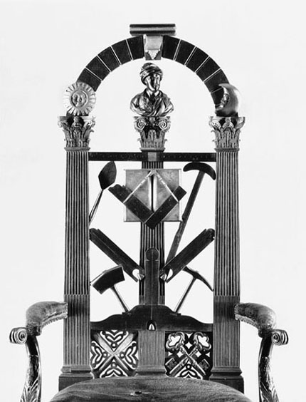 Back of Masonic Chair