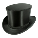 Satin Black Collapsible Top Hat