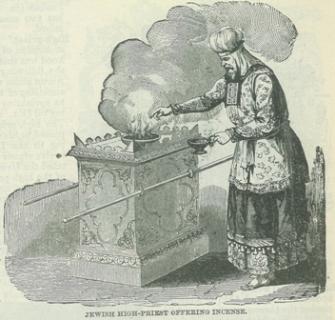 High Priest Lighting Altar of Incense