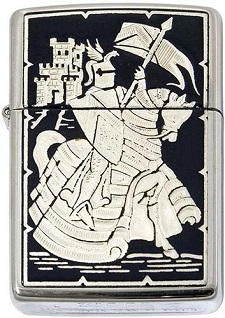 Mounted Knight Zippo Lighter