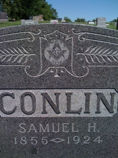 Conlin Masonic gravestone