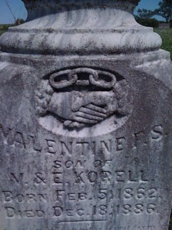 Masonic gravestone -Valentines Korell