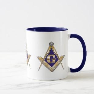 Masonic coffee mug with Masonic logo