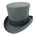 Grey Felt Top Hat