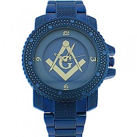 Blue Lodge Watch with blue metal band