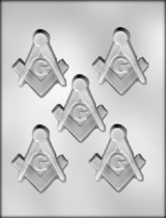 masonic emblem candy mold