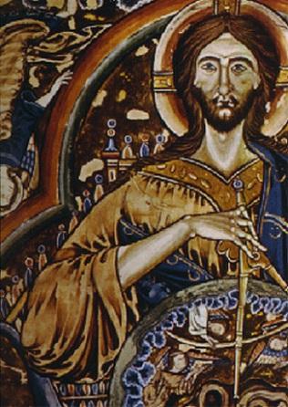 Christ applying compasses
