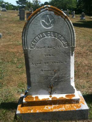 Elisha Clark, Jr. Nov. 1826 - Aug. 11, 1865