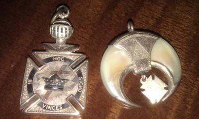 Knights Templar and Shriner Pendants