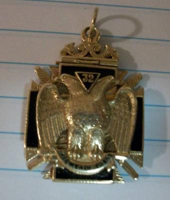 Scottish Rite Double Eagle Pendant