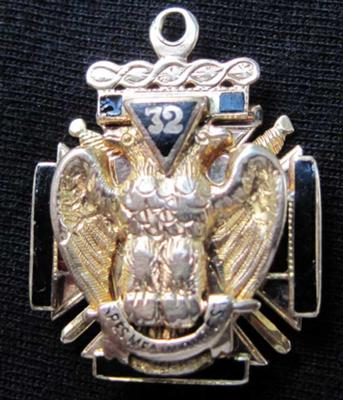 Scottish Rite Double Eagle Logo Pendant