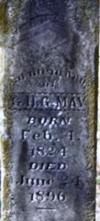 Old Masonic headstone