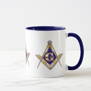 Masonic coffee mug with Masonic logo