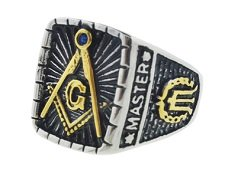 Signet Duo-Tone Masonic Ring