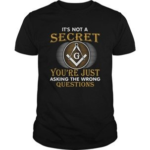 Freemason t-shirt - It's not a secret