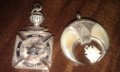 Knights Templar and Shriner Pendants