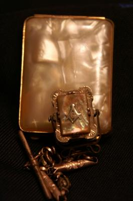 Masonic Mother of Pearl Watch Fob